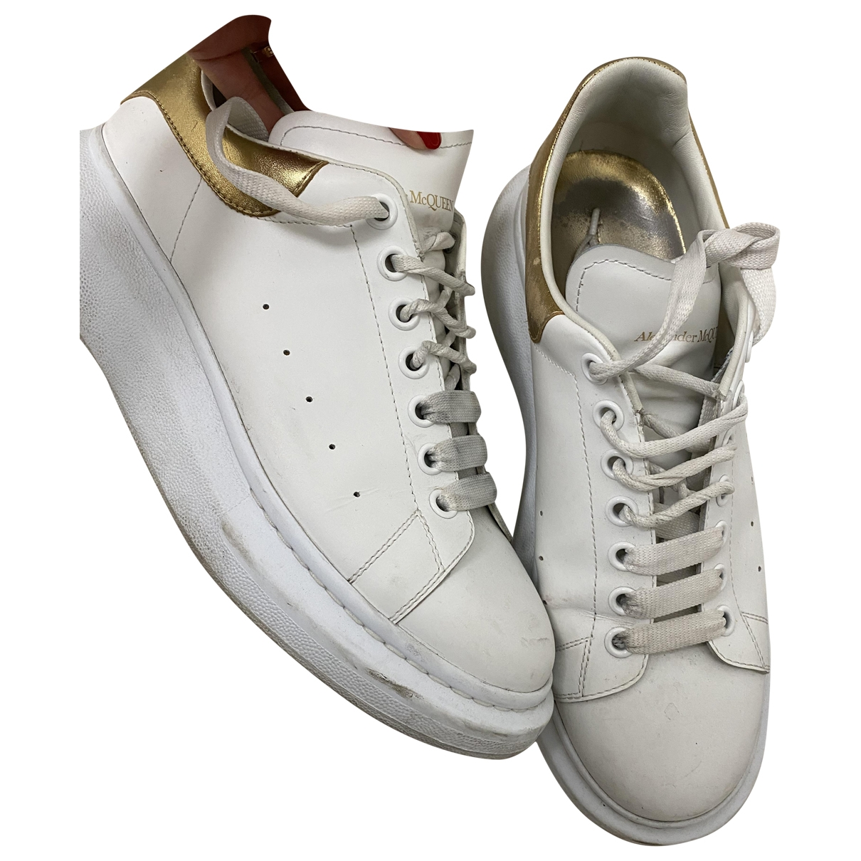 Alexander Mcqueen Oversize White Leather Trainers for Men 43 EU