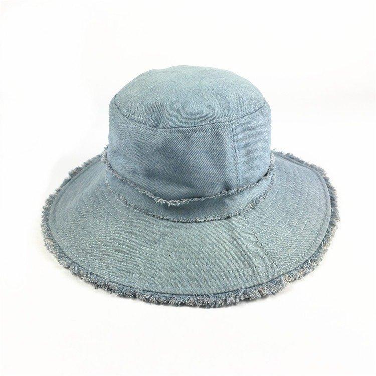 Women Cotton Burr Sunscreen Foldable Bucket Hat Outdoor Casual Travel Beach Sea Hat