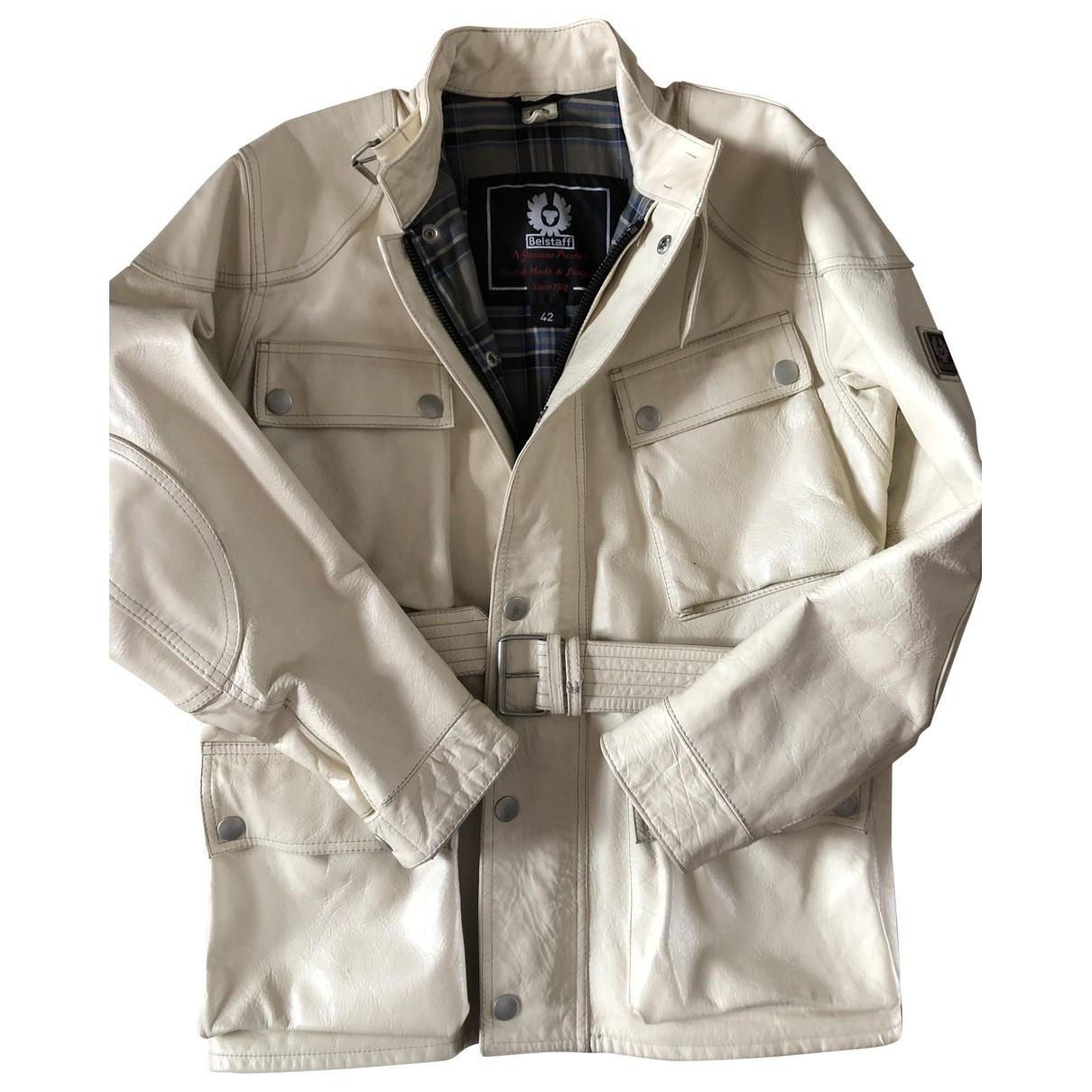 Belstaff \N White Leather jacket  for Men 42 IT