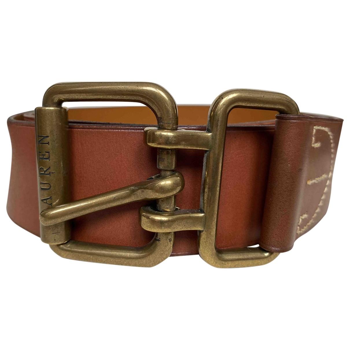 Lauren Ralph Lauren \N Brown Leather belt for Women L International