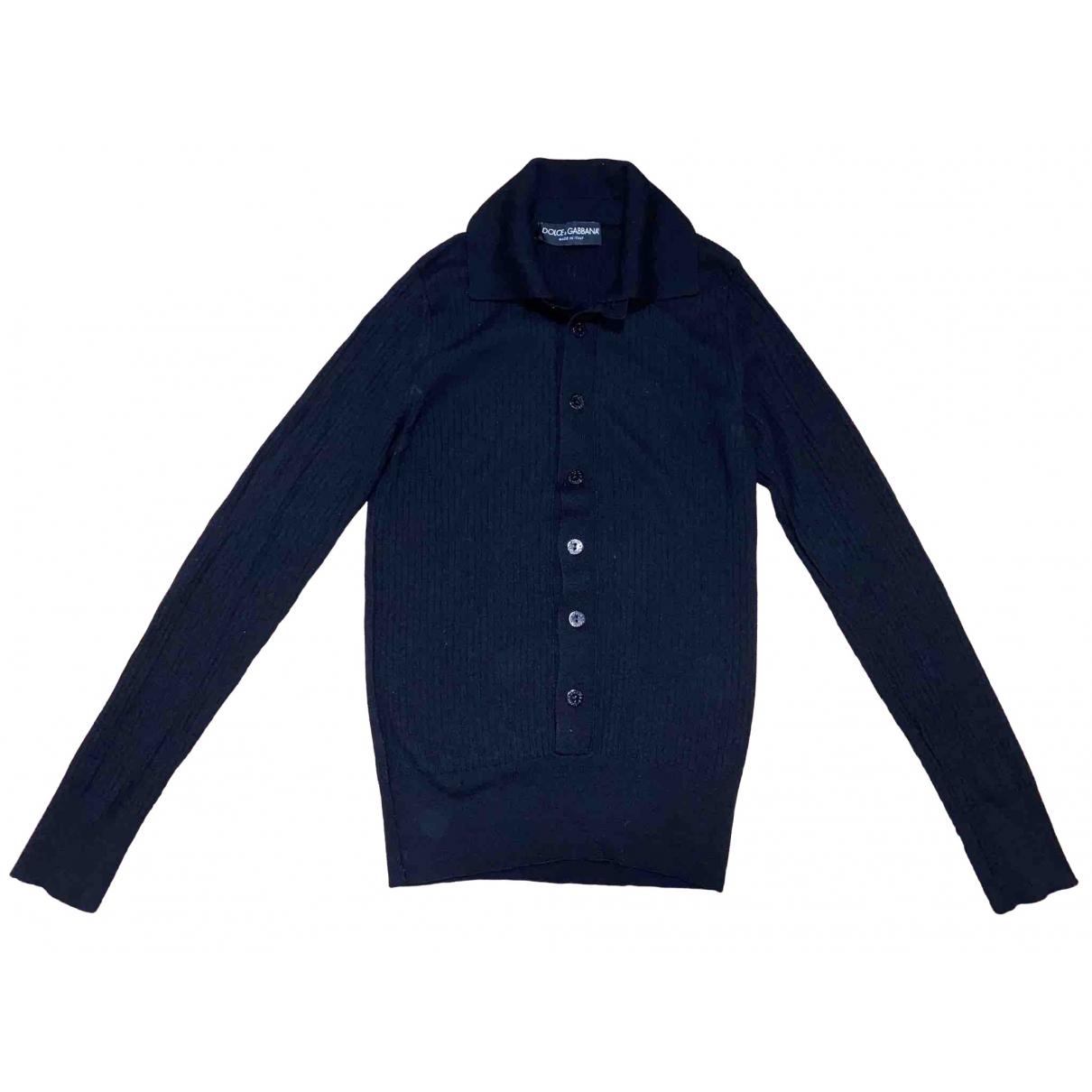 Dolce & Gabbana \N Pullover.Westen.Sweatshirts  in  Schwarz Baumwolle