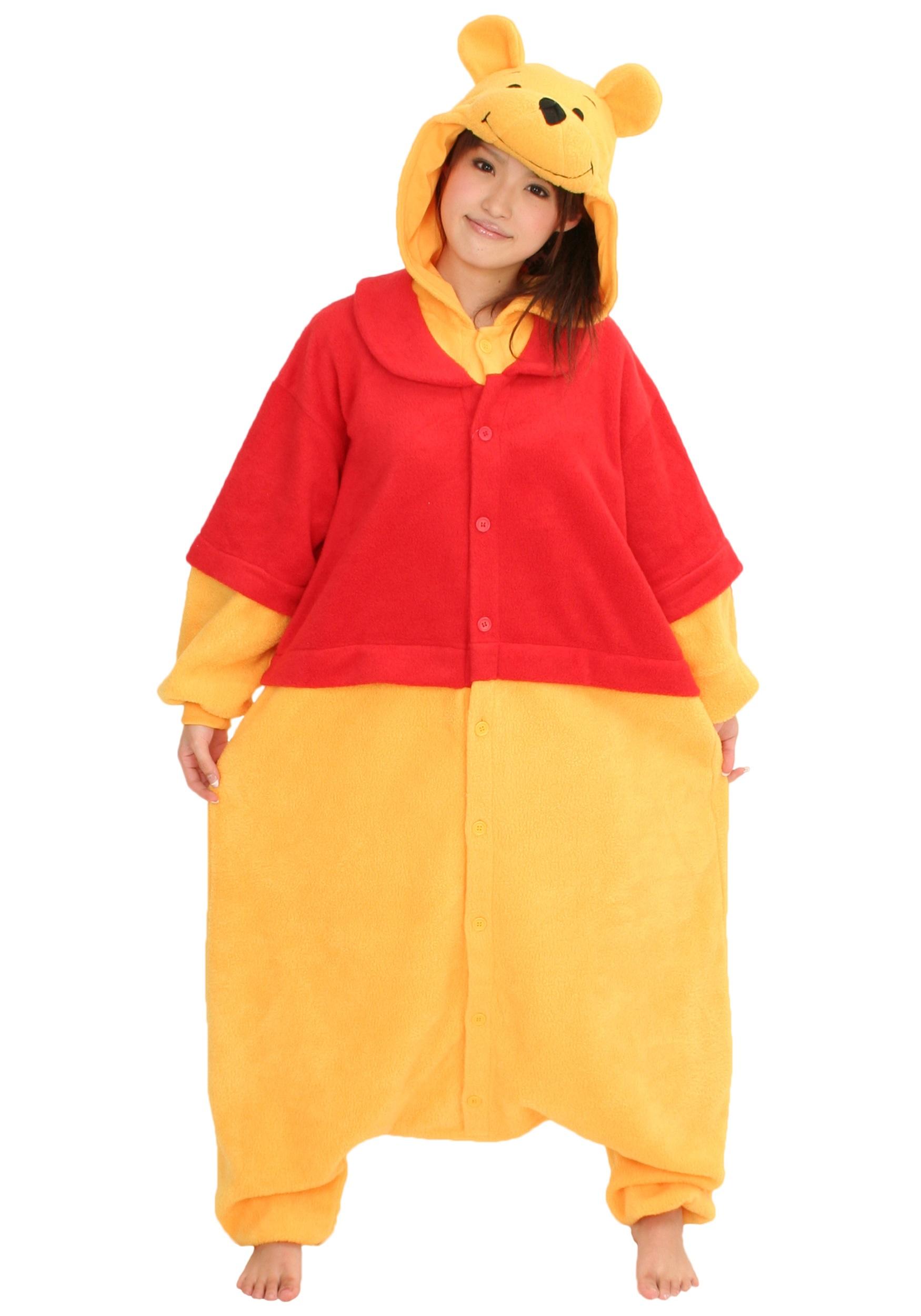 Winnie the Pooh Pooh Bear Kigurumi Pajamas for Adults