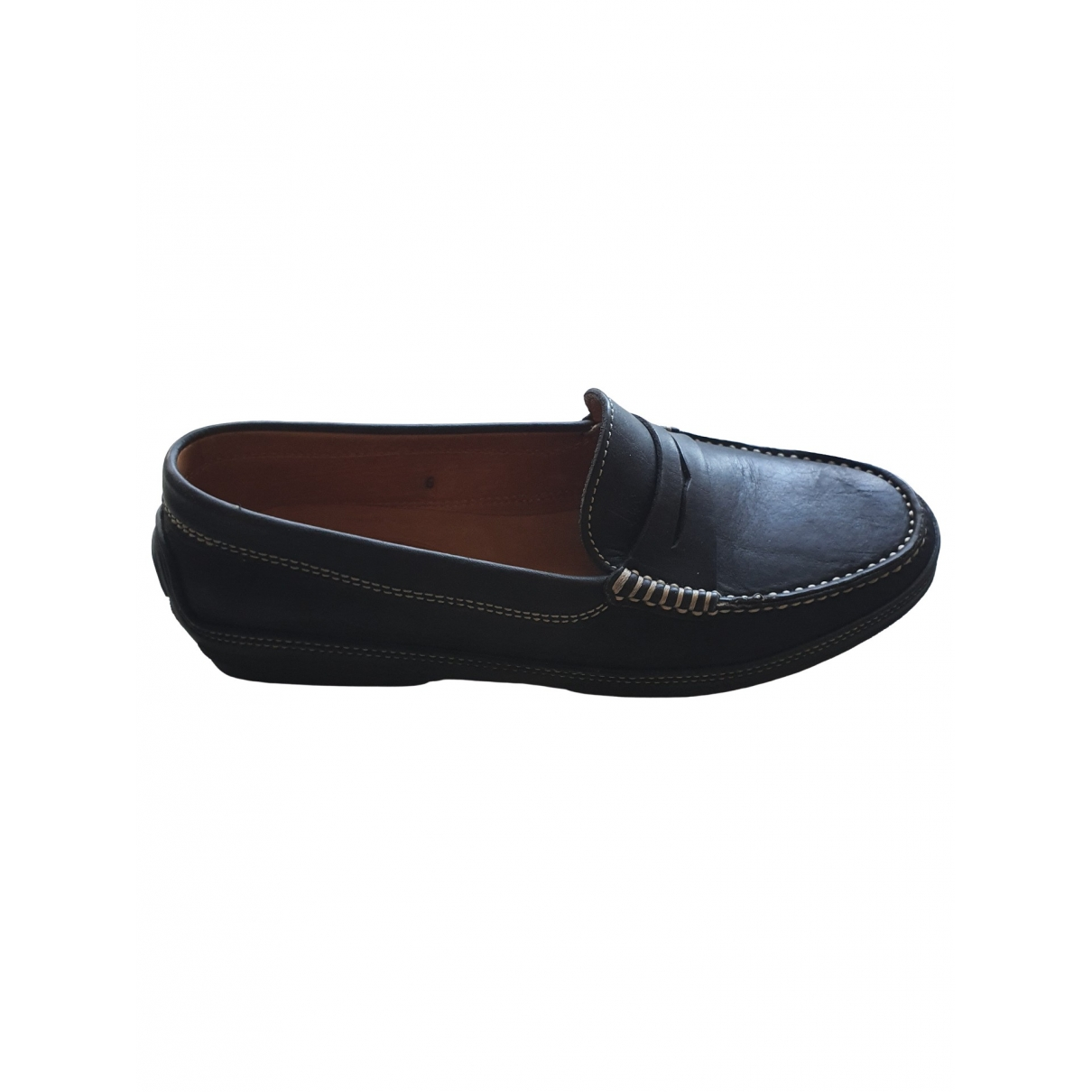 Tod's Gommino Navy Leather Flats for Men 6 US