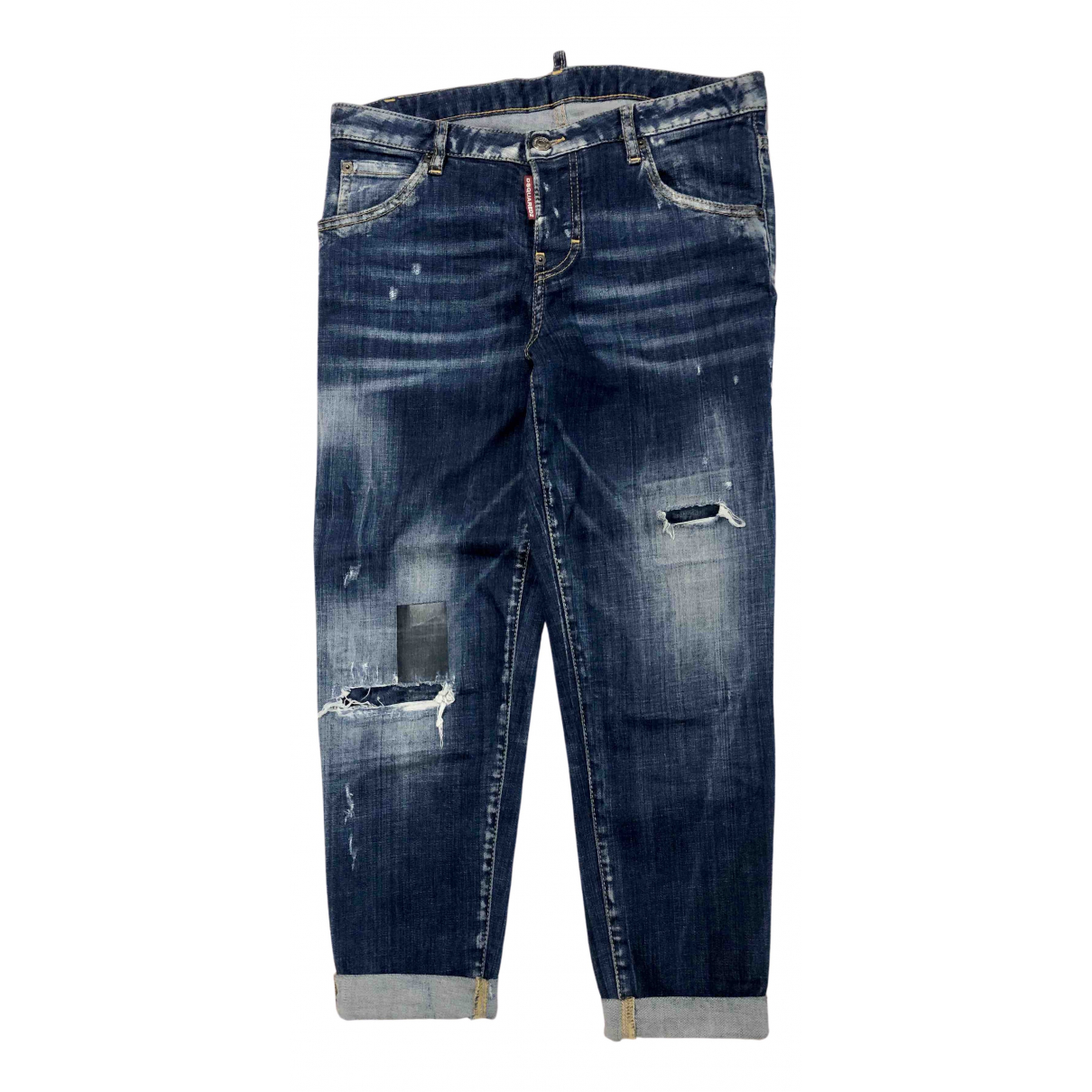 Dsquared2 N Blue Cotton - elasthane Jeans for Women 38 FR