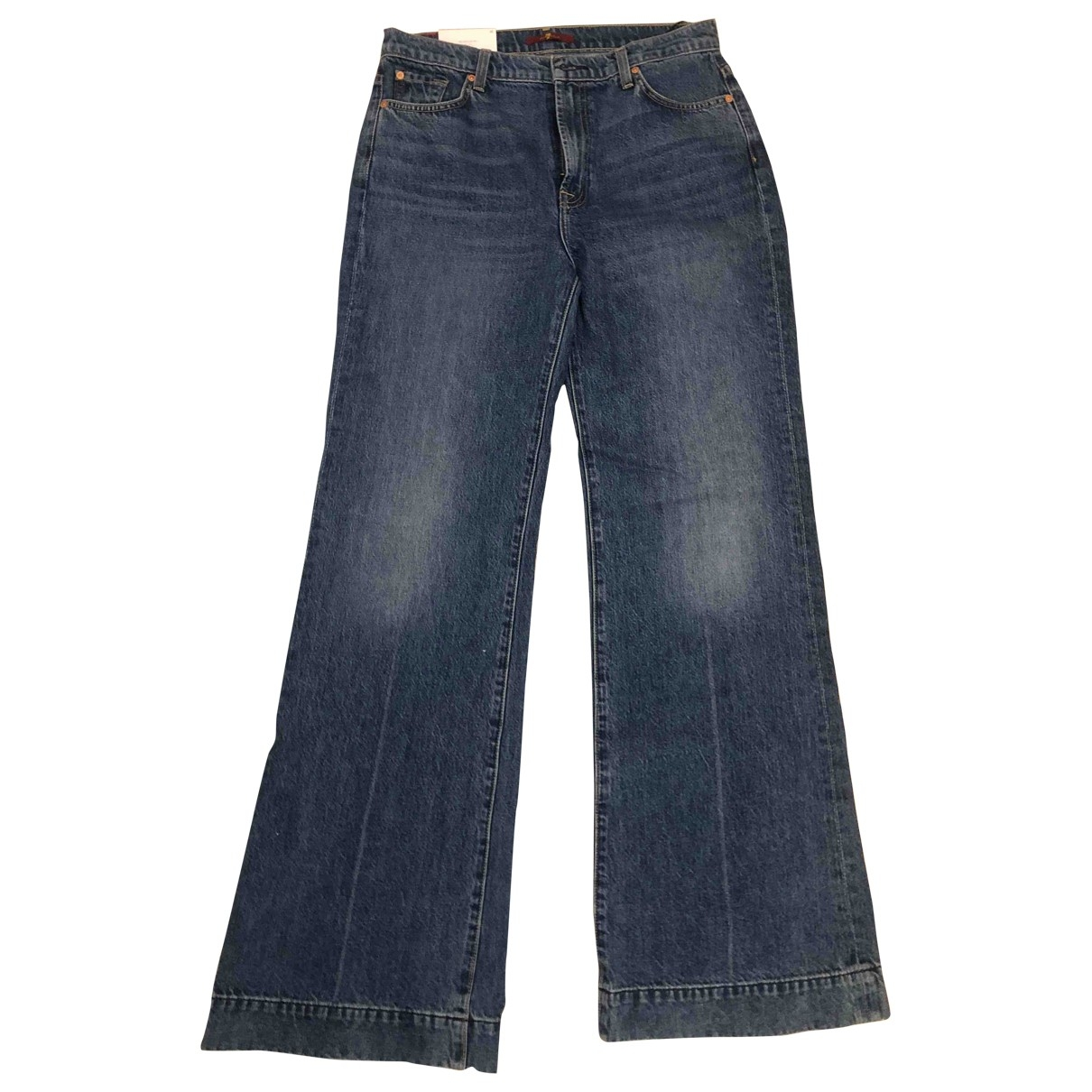 7 For All Mankind \N Blue Denim - Jeans Jeans for Women 31 US