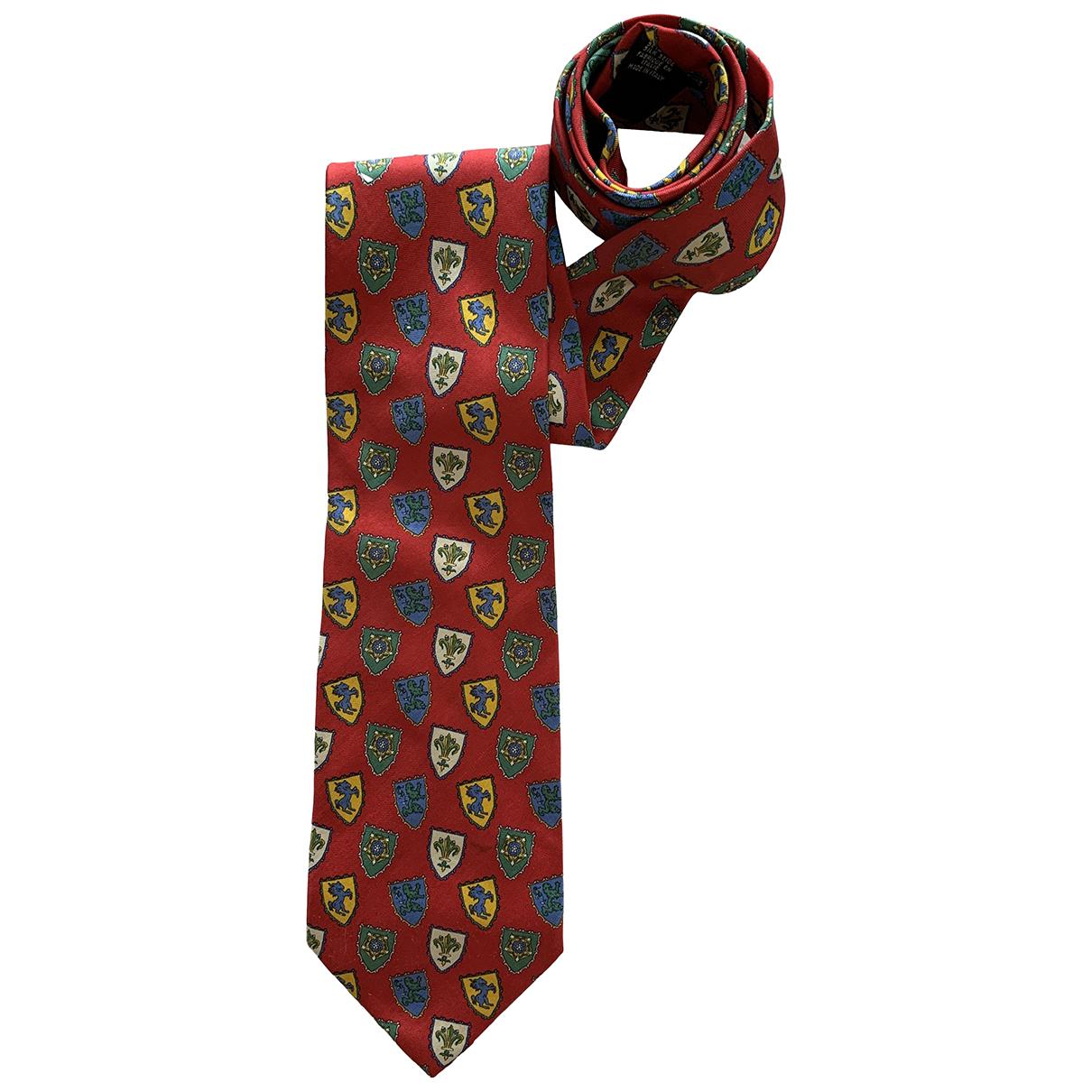 Longchamp \N Red Silk Ties for Men \N