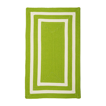Colonial Mills Monica Double Border Braided Rectangular Reversible Indoor/Outdoor Rugs, One Size , Green