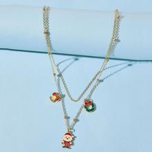 Christmas Santa Claus Layered Necklace