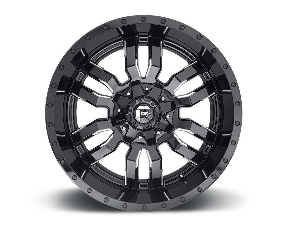 Fuel D595 Sledge Gloss Black & Milled 1-Piece Cast Wheel 22x10 8x180 10mm