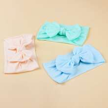 3pcs Baby Bow Knot Decor Headband