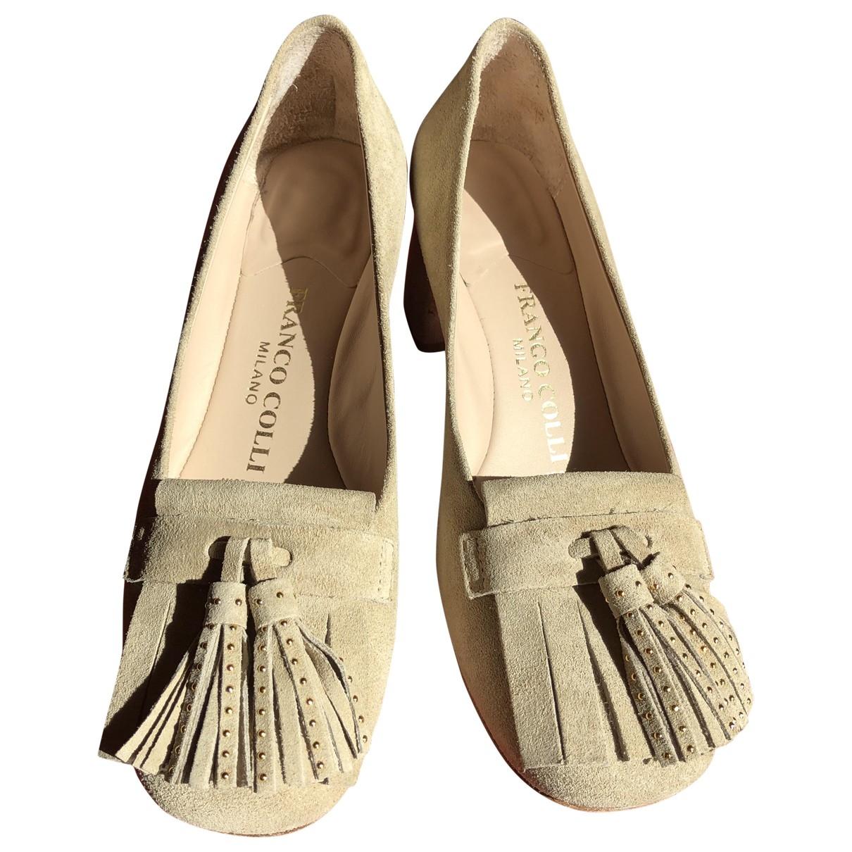 - Escarpins   pour femme en suede - beige