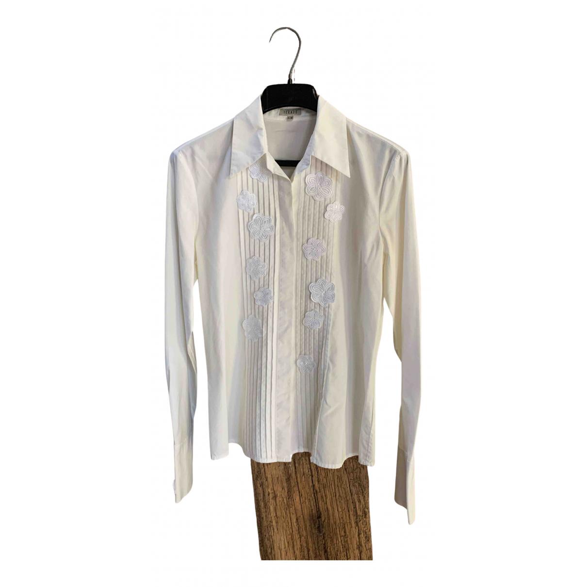 Louis Feraud - Top   pour femme en coton - blanc