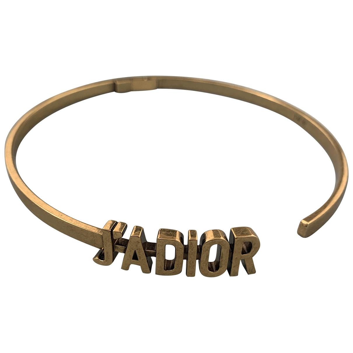 Dior - Collier Jadior pour femme en metal - dore