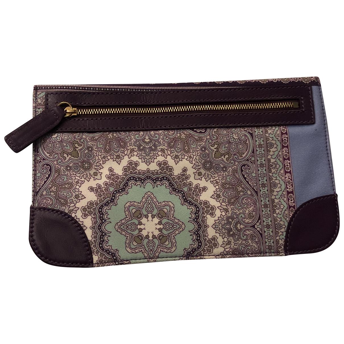 Etro \N Multicolour Cotton Clutch bag for Women \N