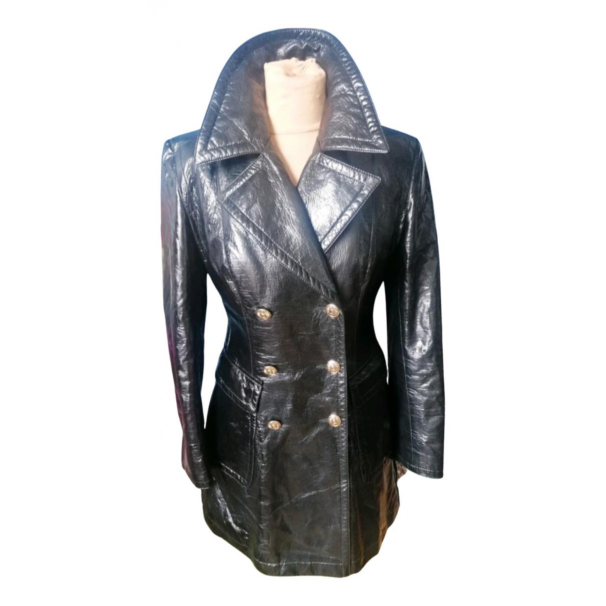 Moschino Cheap And Chic - Manteau   pour femme en coton - noir