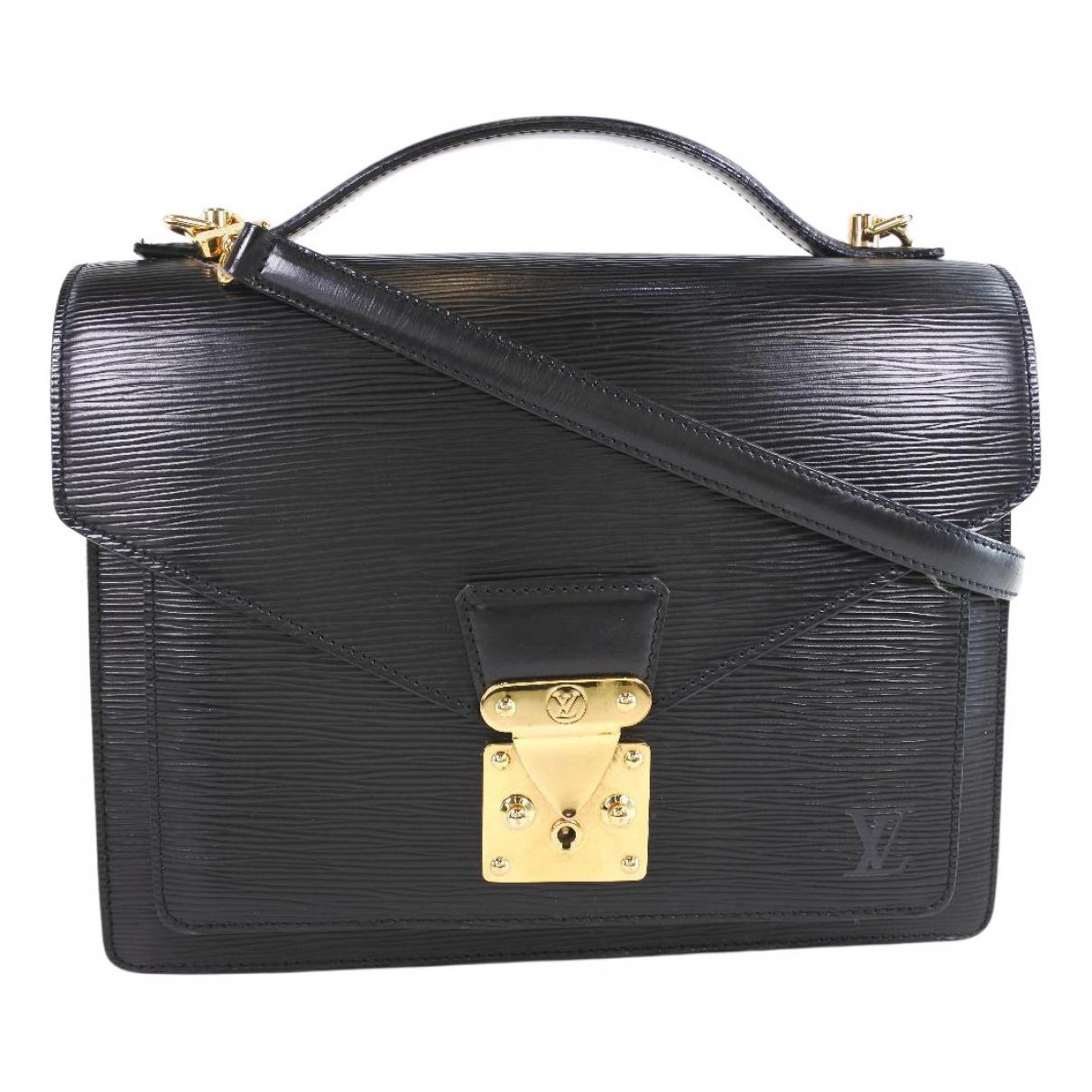 Louis Vuitton - Sac a main Monceau pour femme en cuir - noir