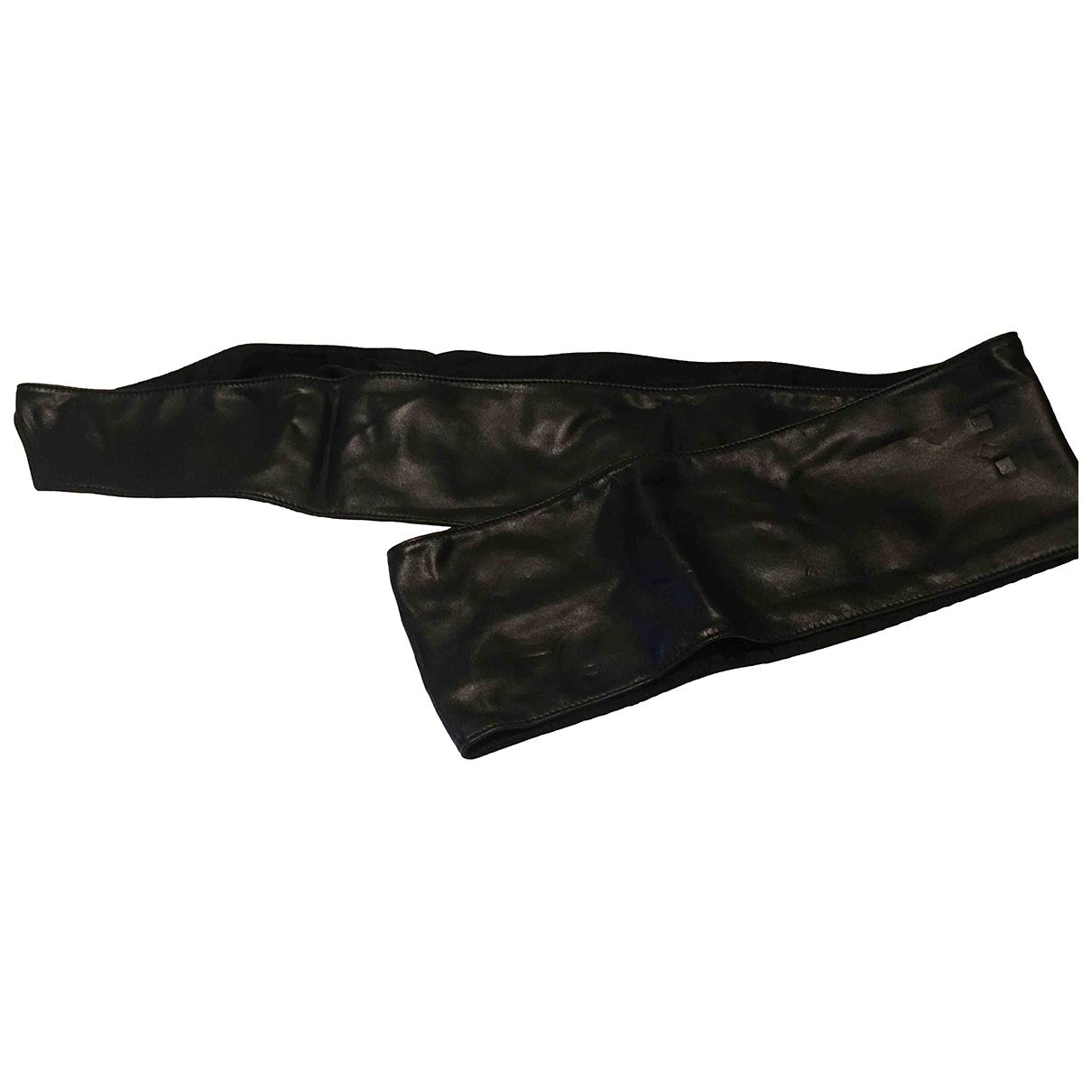 Anna Molinari \N Black Leather belt for Women L International