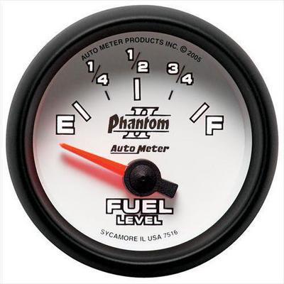 Auto Meter Phantom II Electric Fuel Level Gauge - 7516