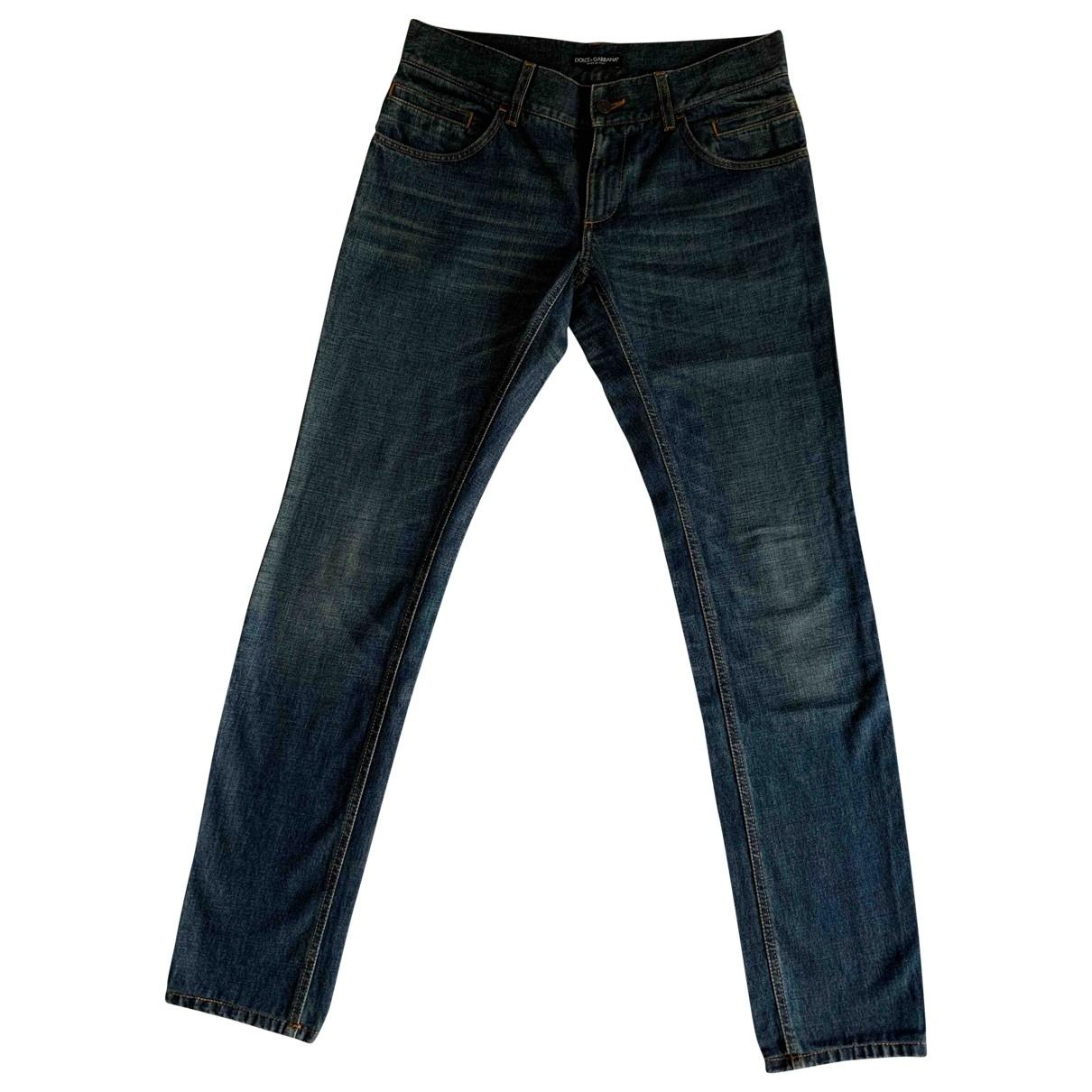 Dolce & Gabbana \N Navy Cotton Jeans for Men 32 US