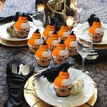 12 Stuecke Decorativer Cupcake-Rand mit Halloween Design