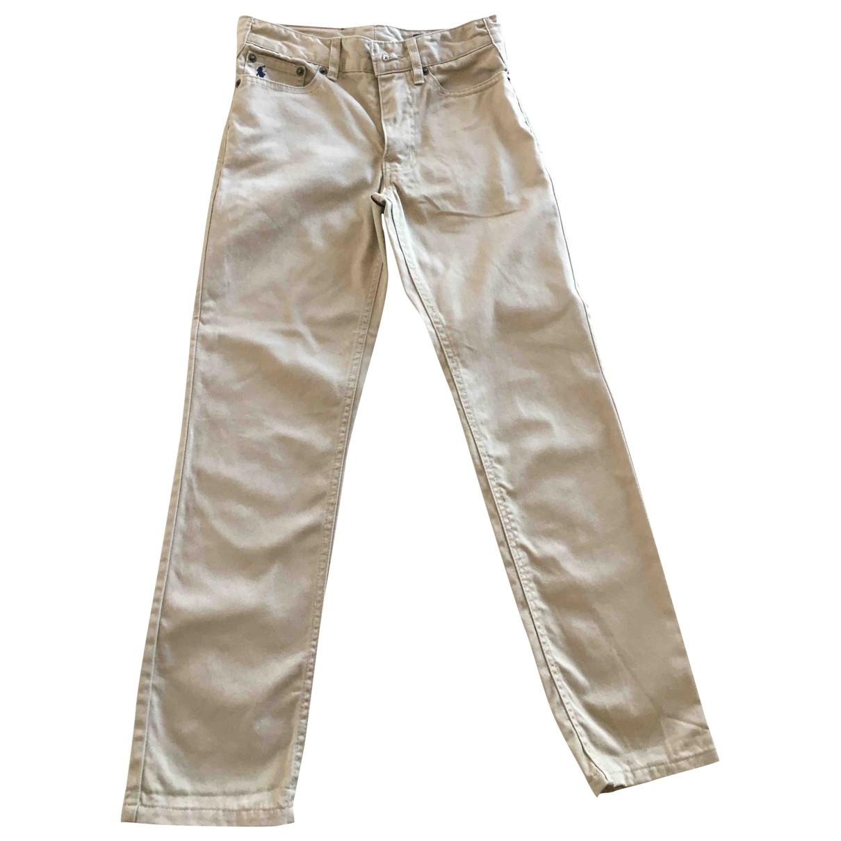 Pantalones en Algodon Beige Polo Ralph Lauren