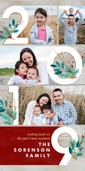 Christmas Photo Cards 4x8 Flat Card Set, 85lb, Card & Stationery -2019 Best Memories Collage