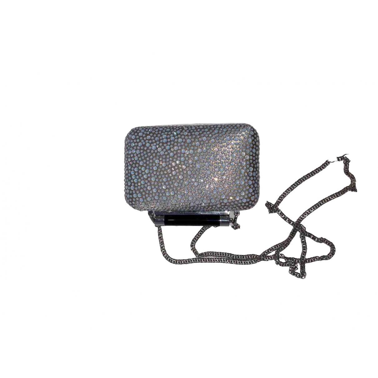 Diane Von Furstenberg - Pochette   pour femme en cuir - gris