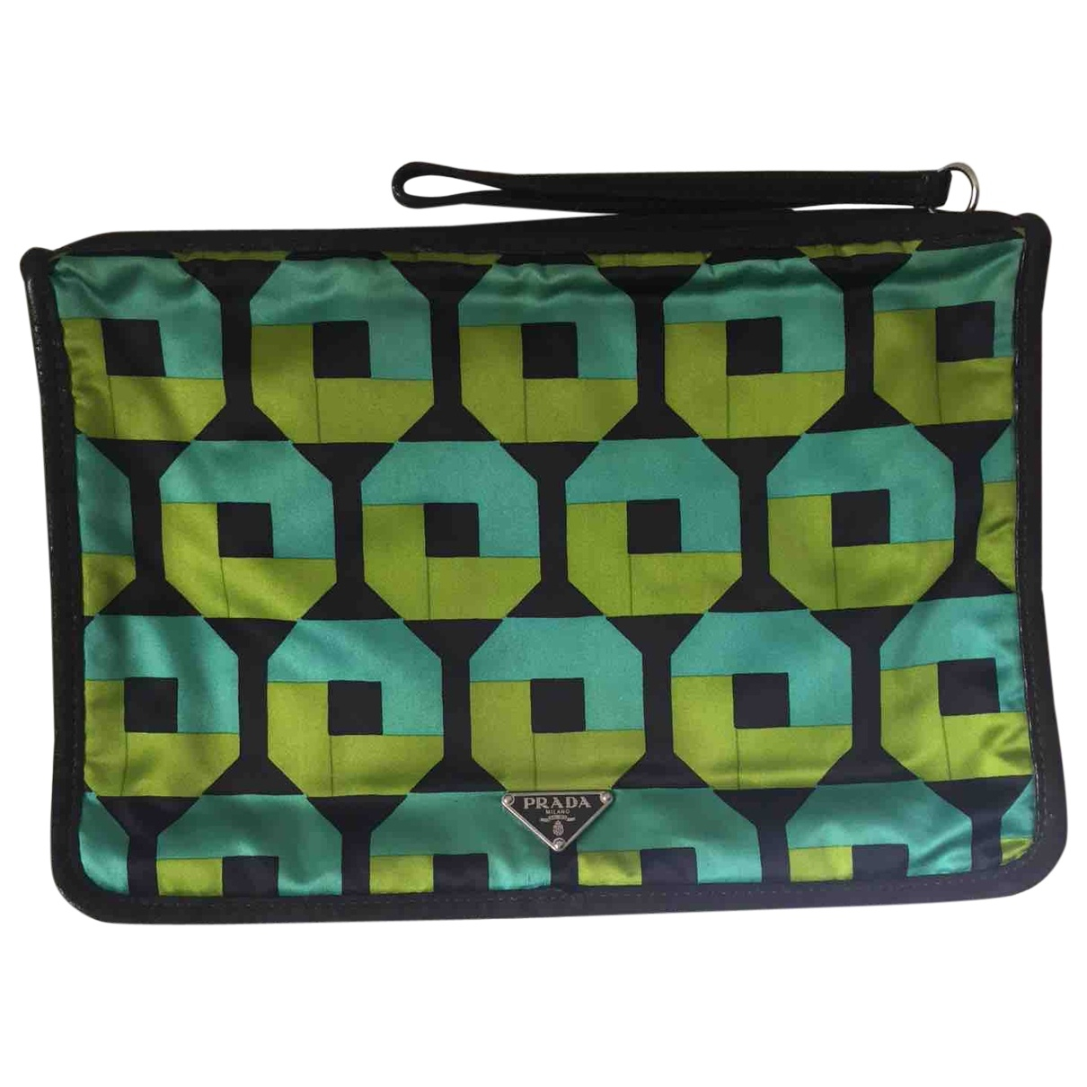Prada \N Green Silk Small bag, wallet & cases for Men \N