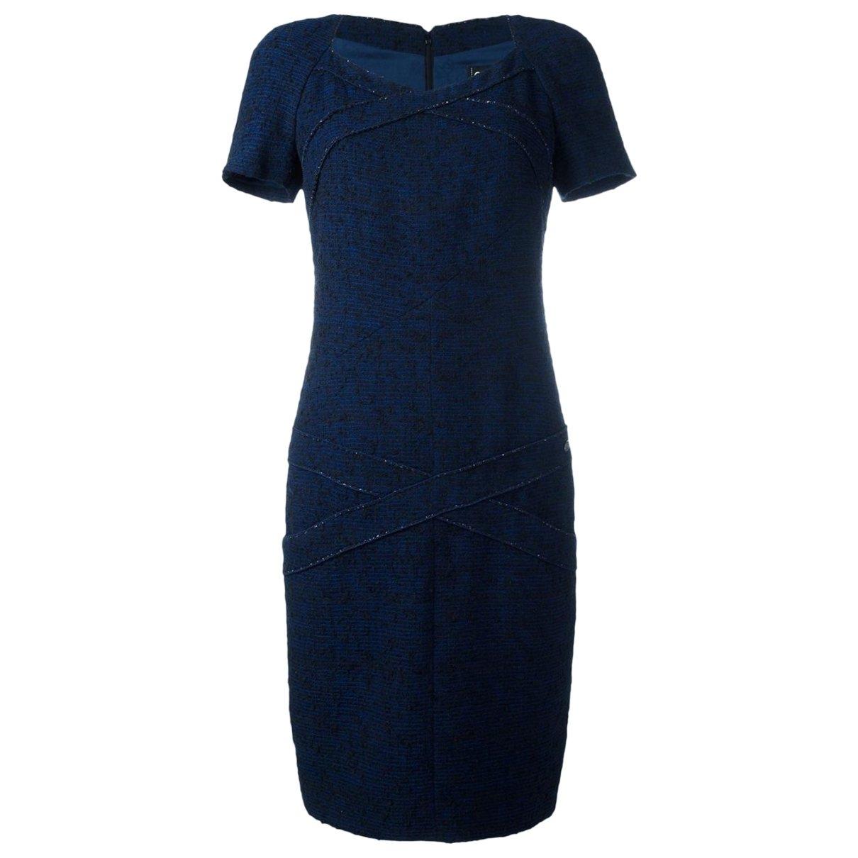 Chanel \N Navy Cotton - elasthane dress for Women 40 FR