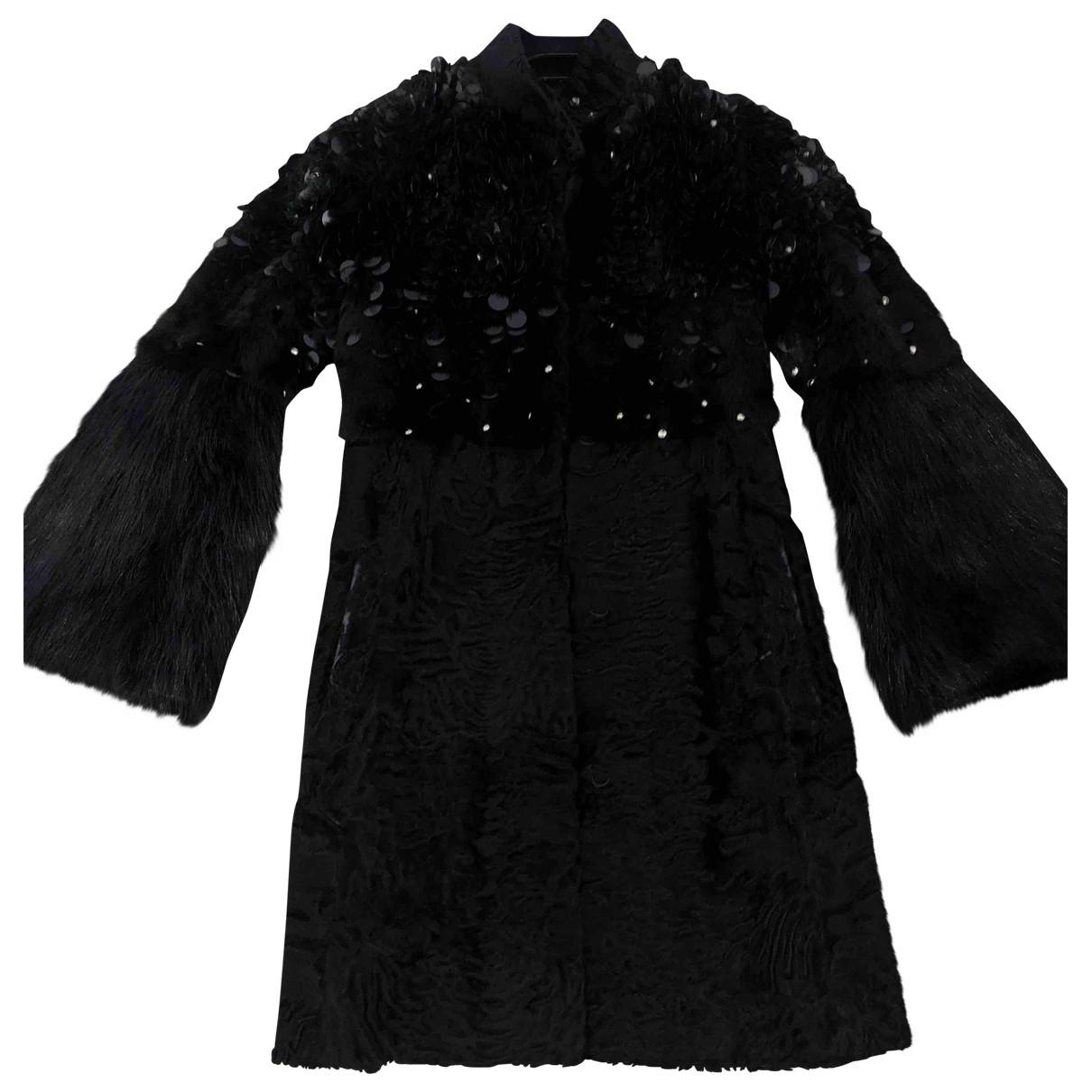 Gucci - Manteau   pour femme en fourrure - noir