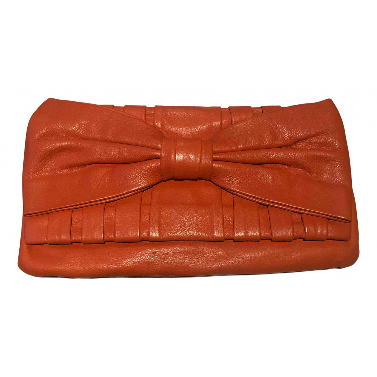 Red Valentino Garavani \N Clutch in  Orange Leder