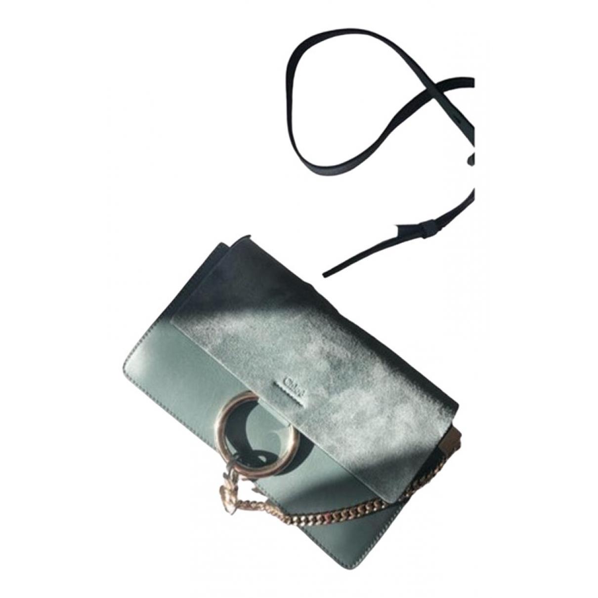 Chloé Faye Blue Leather handbag for Women N