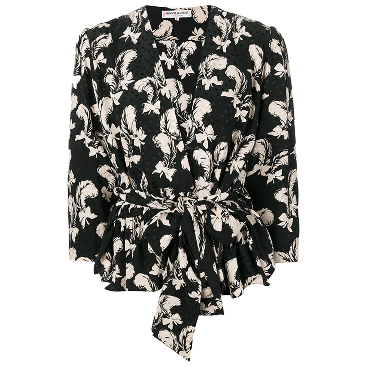 Yves Saint Laurent \N Black Silk skirt for Women 42 FR
