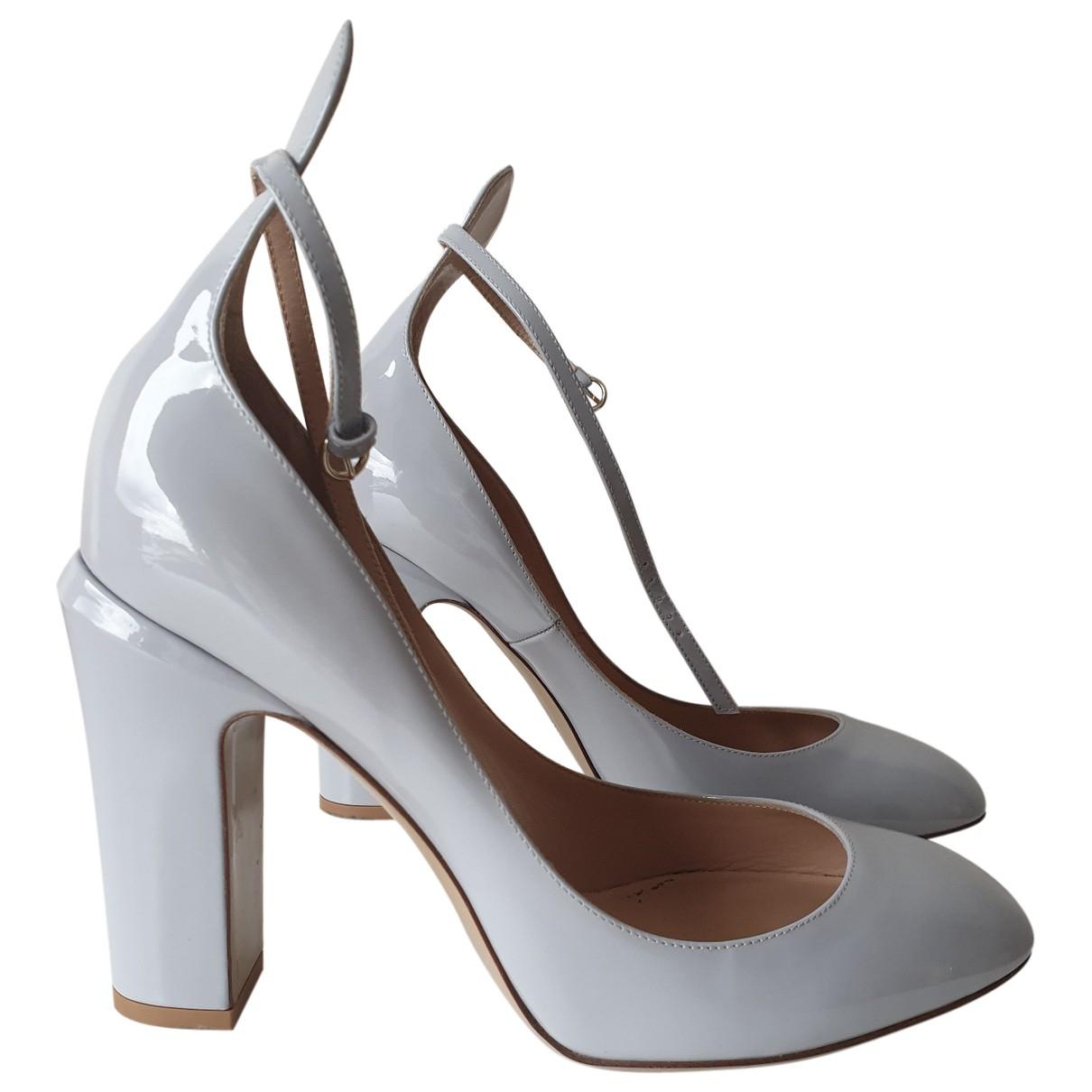 Valentino Garavani - Escarpins Tango pour femme en cuir verni - gris