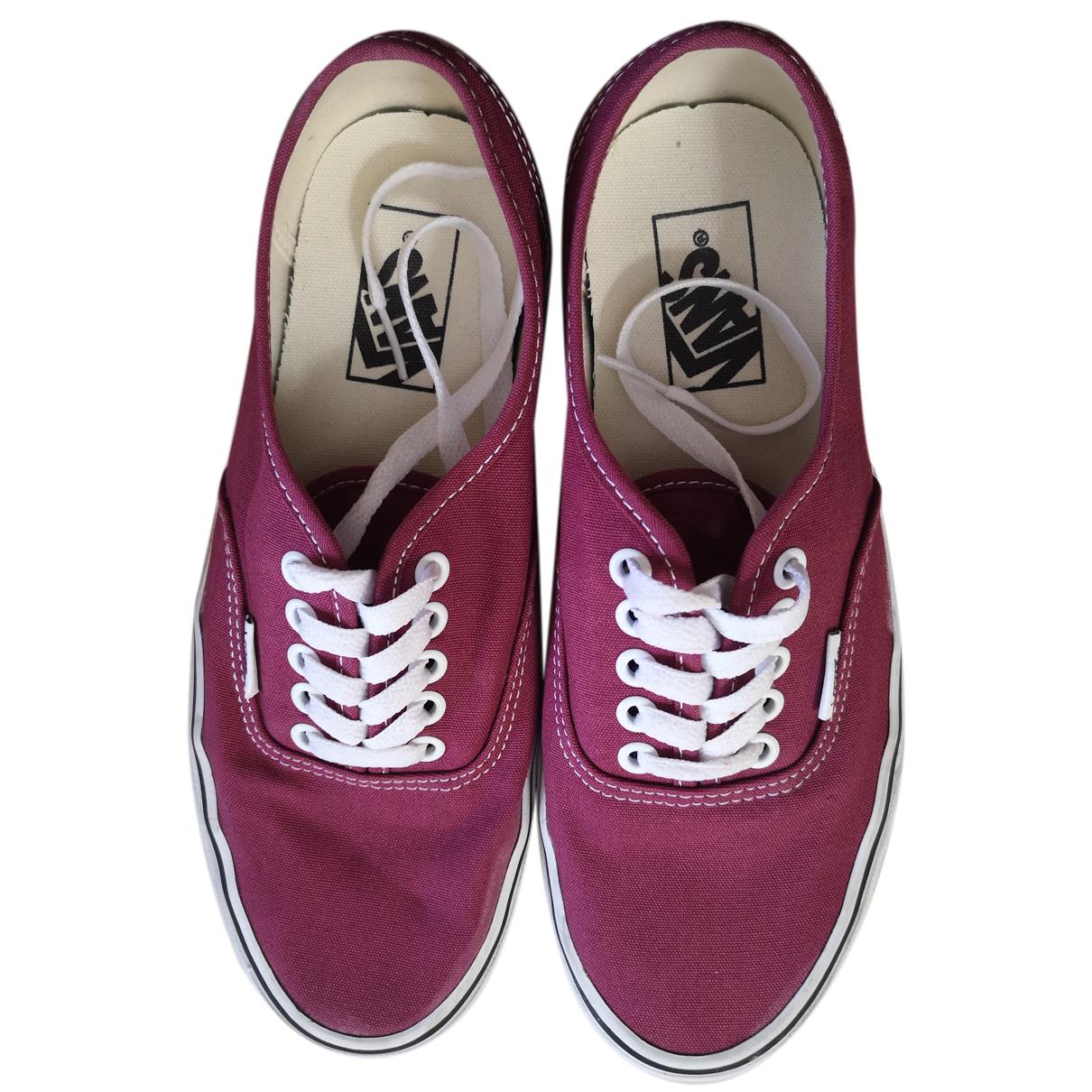 Vans \N Sneakers in  Bordeauxrot Leinen