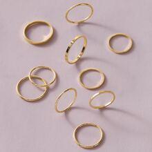 10 piezas set de aro simple
