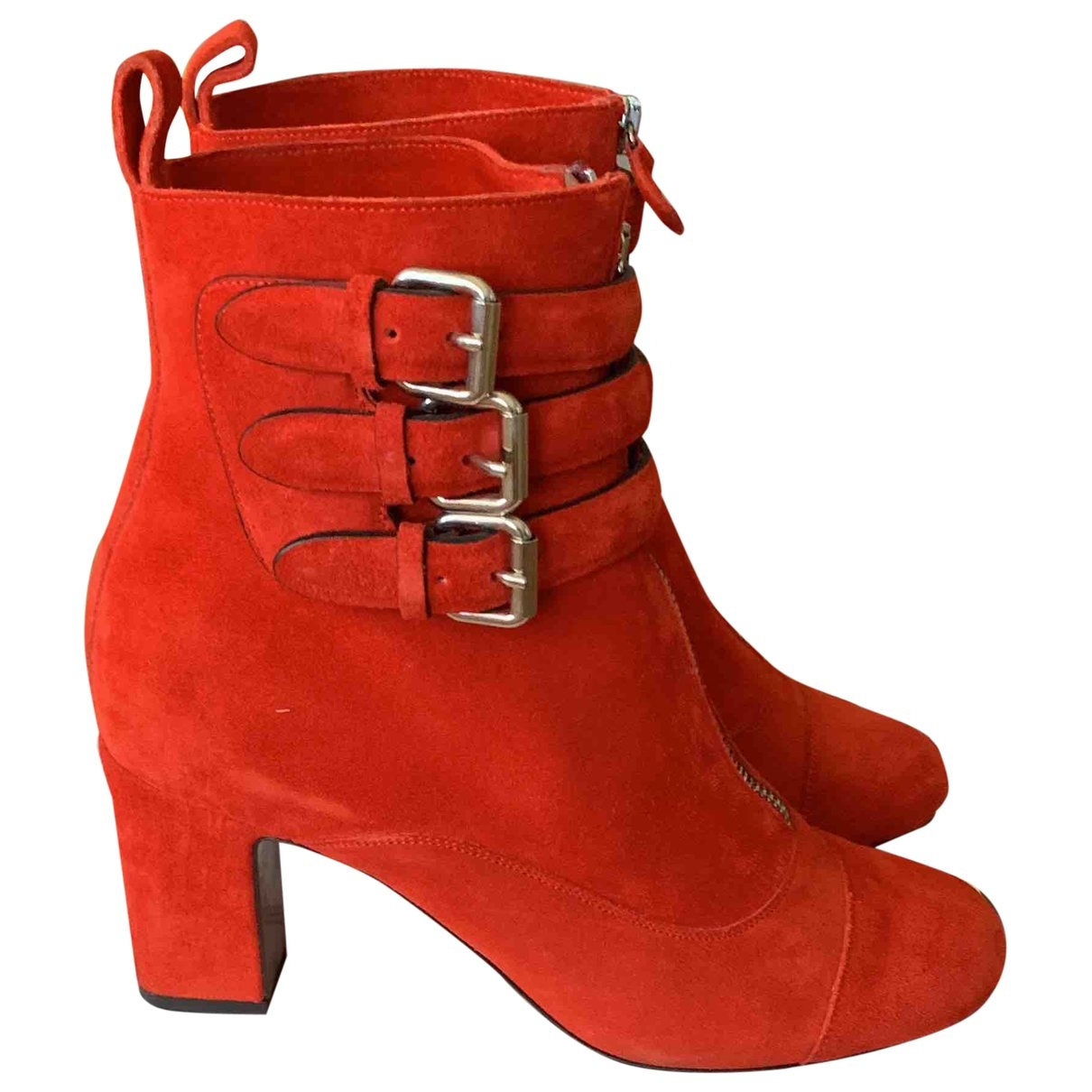 Tabitha Simmons \N Red Suede Ankle boots for Women 37.5 EU