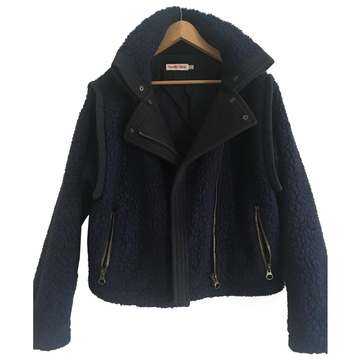 See By Chloé \N Navy Cotton jacket for Women 38 FR