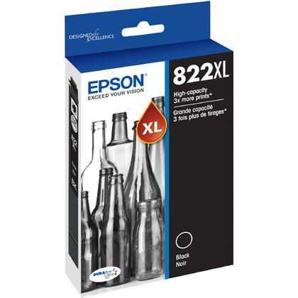 Epson WorkForce Pro WF-4834 Epson T822XL T822XL120-S Black Ink Cartridge High Yield