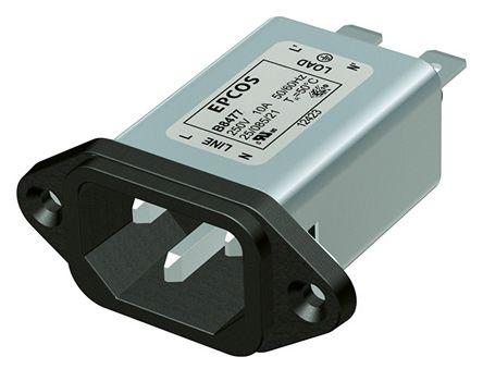 EPCOS , B84771 6A 250 V ac/dc 50 → 60Hz, Panel Mount RFI Filter, Tab, Single Phase