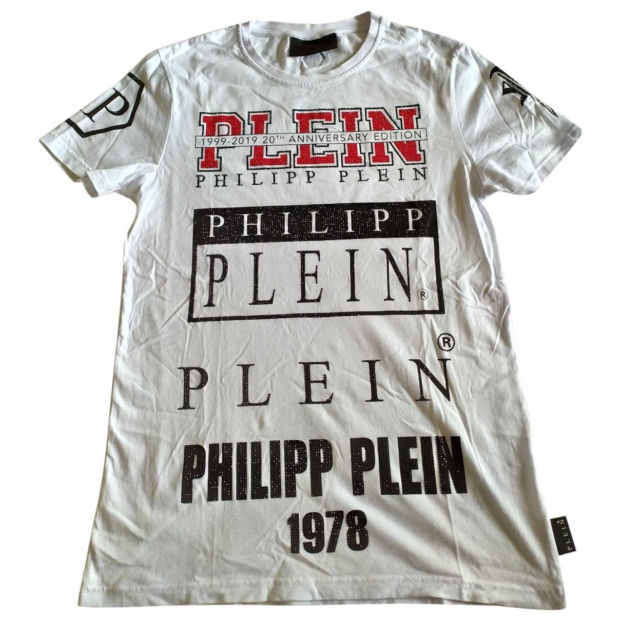 Philipp Plein - Tee shirts   pour homme en coton - blanc