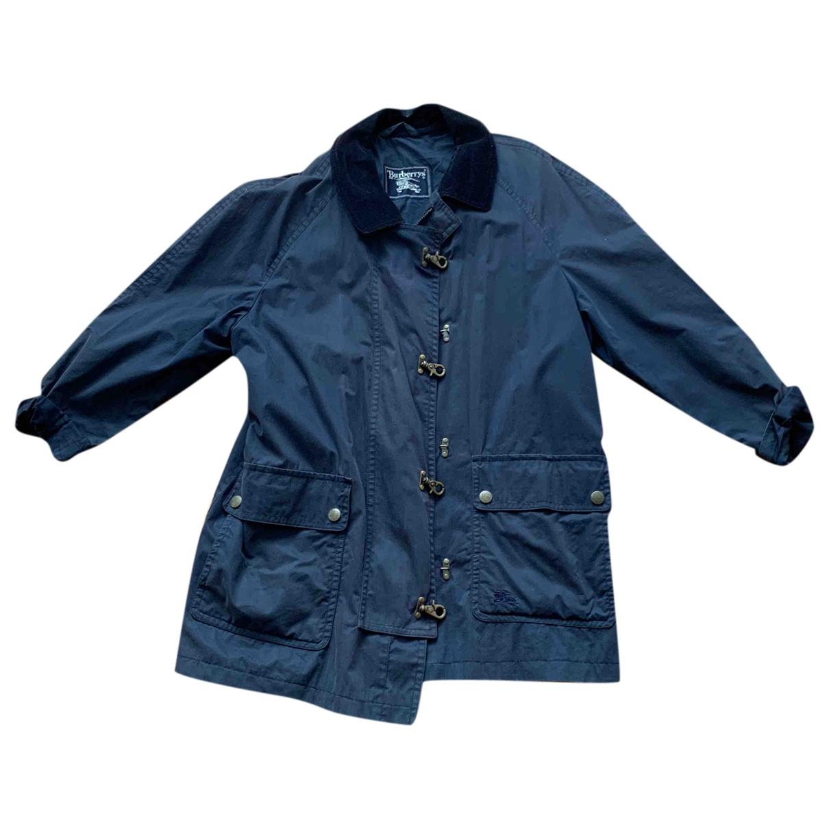 Burberry \N Jacke in  Blau Baumwolle