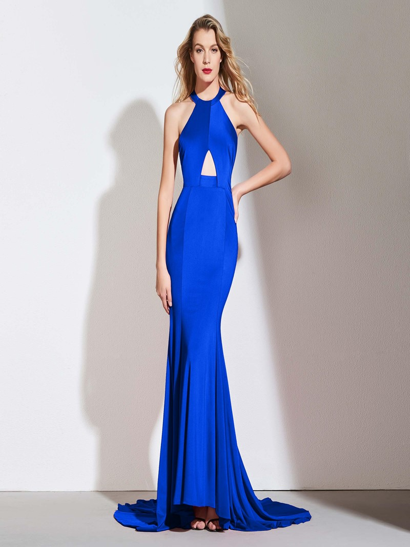 Ericdress Halter Backless Mermaid Prom Dress