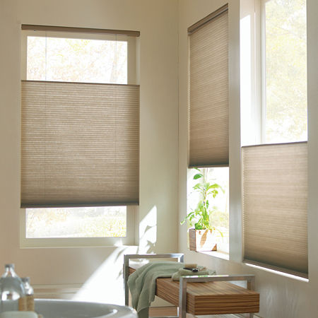 Home Expressions Top-Down/Bottom-Up Cordless Cellular Shade - FREE SWATCH, One Size , Brown