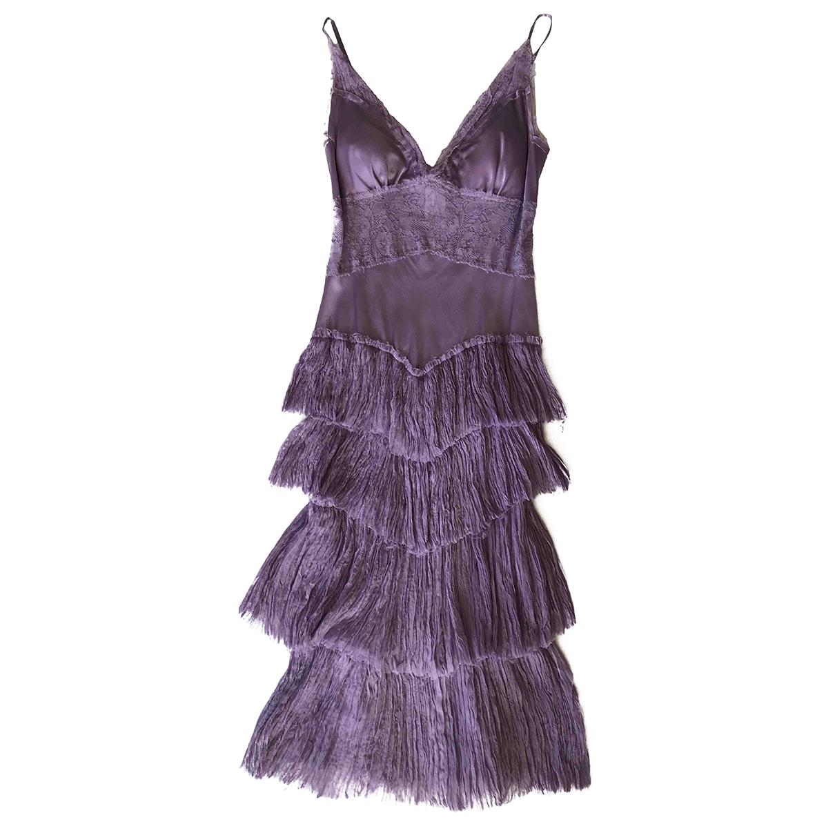 Ermanno Scervino \N Kleid in  Lila Seide