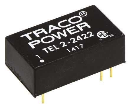 TRACOPOWER TEL 2 2W Isolated DC-DC Converter Through Hole, Voltage in 18 → 36 V dc, Voltage out ±12V dc