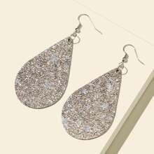 Textured Water Drop Earrings