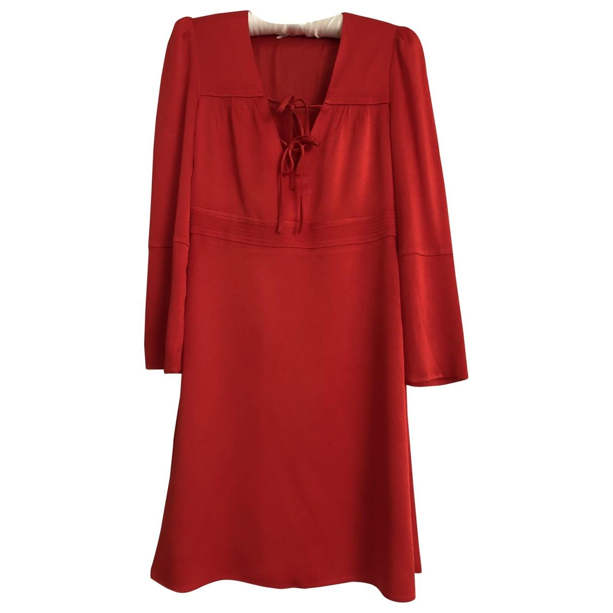 Maje \N Kleid in  Orange Viskose