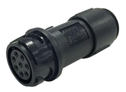 Bulgin Connector, 8 contacts Cable Mount Miniature Socket, Crimp, Solder IP66, IP68, IP69K
