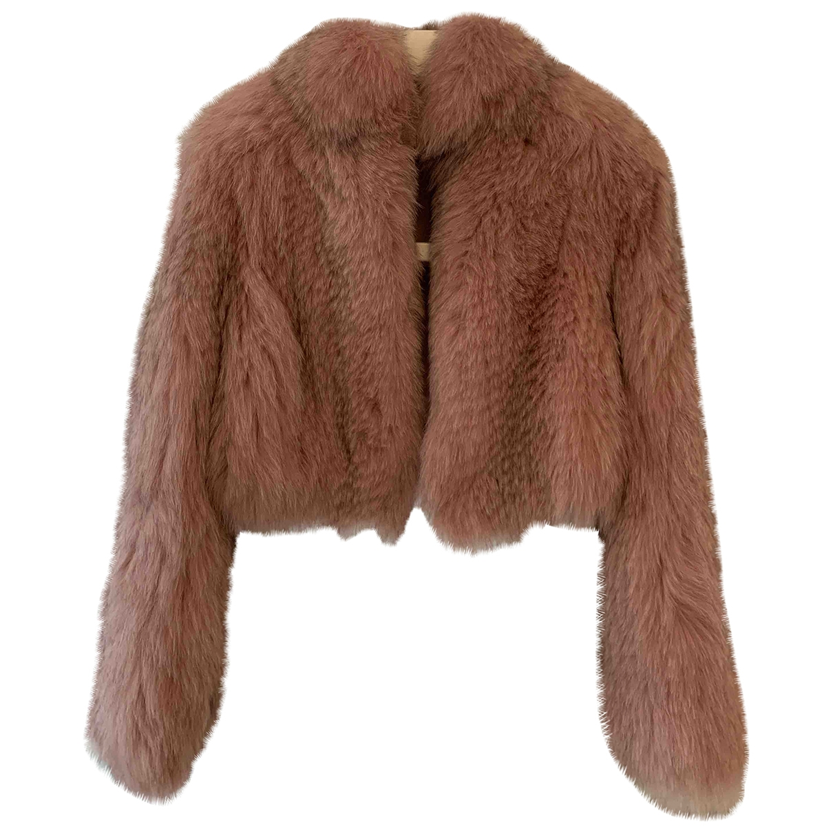 Non Signé / Unsigned \N Pink Raccoon jacket for Women 40 IT